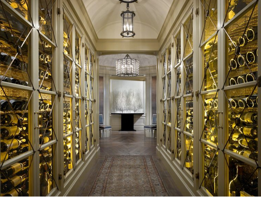 Lake shore drive penthouse hallway traditionalneoclassical by jessica lagrange interiors