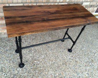 Bureau bois bureau dordinateur Table Table de bois par BeRusticCo