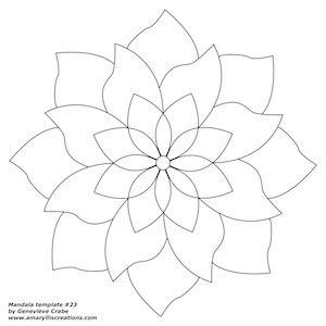 Mandala template 23 | Mandala, Template and Mandalas
