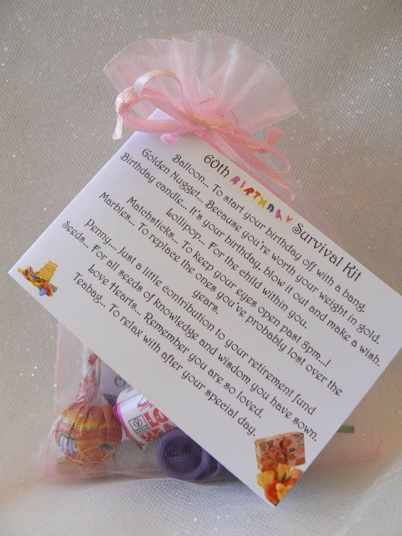 60th 70th 80th Birthday Survival Kit gift and by ForgetmenotValley