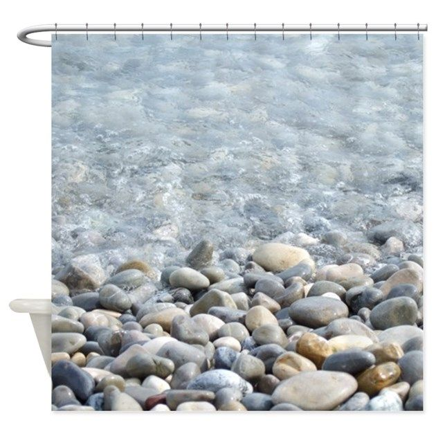Cobble Gravel Rock Shower Curtain Sets Decorative Stone Bath Decor Accessories