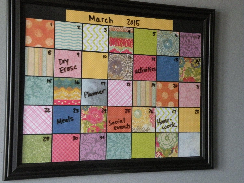 Dry Erase Framed Calendar Monthly Planner Dorm Room