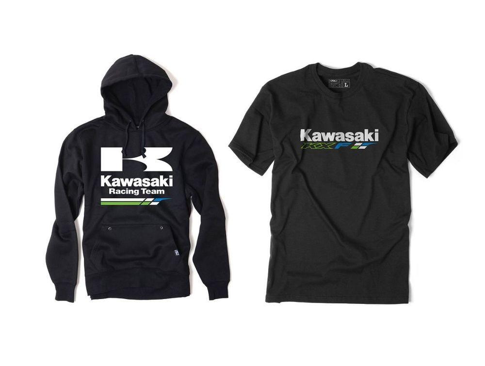 FX KAWASAKI KXF 2 PIECE MEN APPAREL T-SHIRT HOODY COMBO MOTOCROSS MOTORCYCLE  #FACTORYEFFEX #CLOTHING