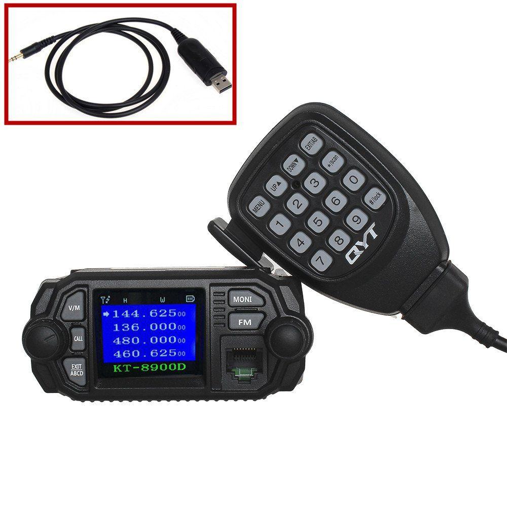 Qyt Kt 8900d 25w 20w Uhf Vhf Two Way Radios Dual Band Car Wiring Stereo Speakers Radiowalkie Talkiecar Audioradiosprogrammingquadspeakersscreenswire