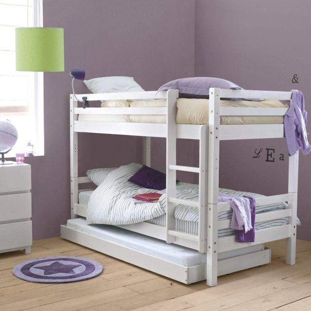 lits superpos s lits jumeaux pin massif chambre fille pinterest bunk bed. Black Bedroom Furniture Sets. Home Design Ideas