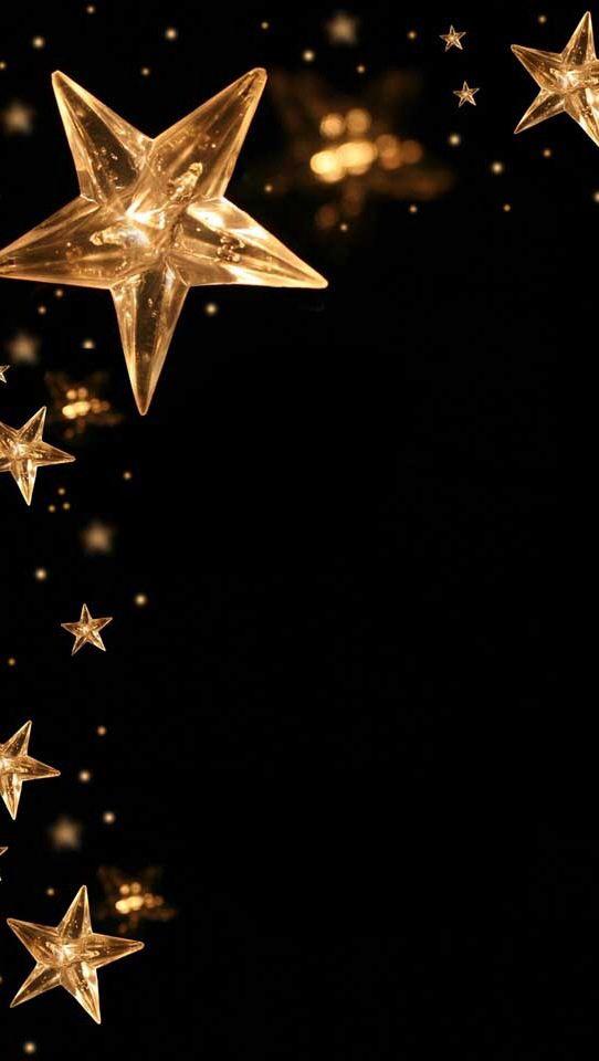 Gold Stars On Black Backgrounds Wallpapers Pinterest