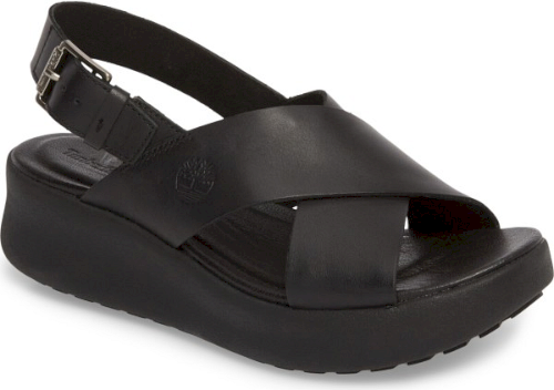 Timberland Los Angeles Wind Slingback Sandal In Black Easygoing West Coast Style Defines This Sporty Sandal Fashione Slingback Sandal Sandal Fashion Slingback