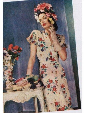 1945 Vintage Garden Party Dresses
