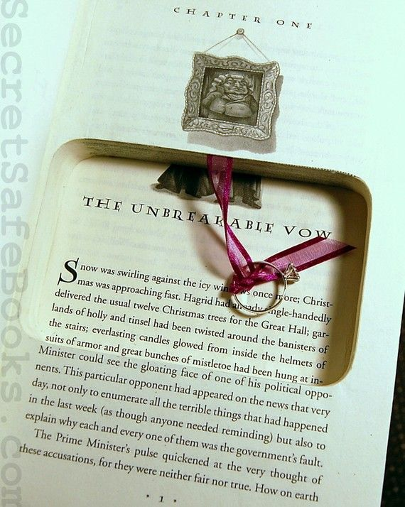 Harry Potter Unbreakable Vow Proposal book/Ringbearer book ...
