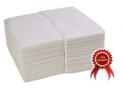 Chefland 100 Pack Linen Feel Guest Towels Disposable Cloth Like Tissue Paper Hand Napkins 12 Quot X 17 Quot W Paper Guest Towels Linen Feel Guest Towels