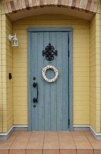 貝殻を貼るだけ 簡単手づくり夏リース 玄関ドア 飾り ドア飾り リース