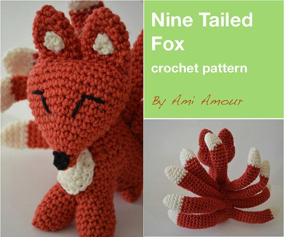 9 Tailed Fox crochet PDF pattern Kitsune Gumiho - ordered by Kacey Shaffer