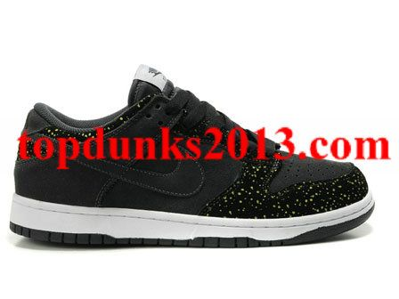 best website eb0be 4b764 Famous East Anthracite Black Volt Yellow Dot Nike Dunk Low CL Premium  Quality