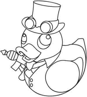 Steampunk Duckie design (UTH2490) from UrbanThreads.com