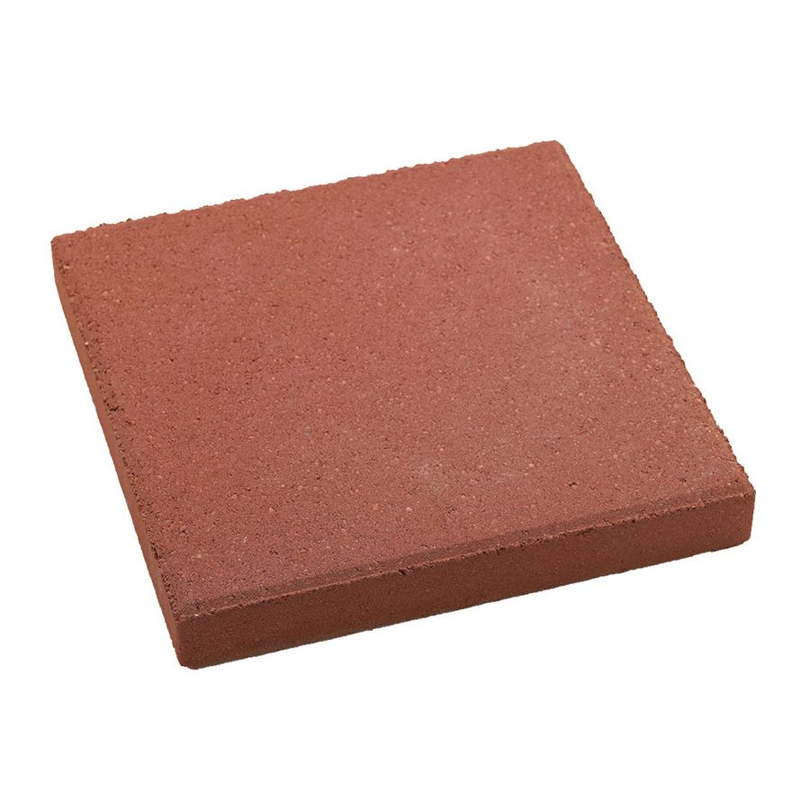 Square Red Patio Stone (Common: 12 In X 12 In; Actual: 11.7 In X 11.7 In)