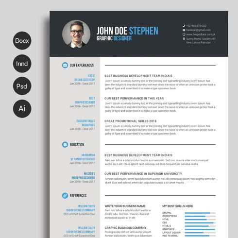 Free Cv Template  Master Bundles  Business    Free Cv