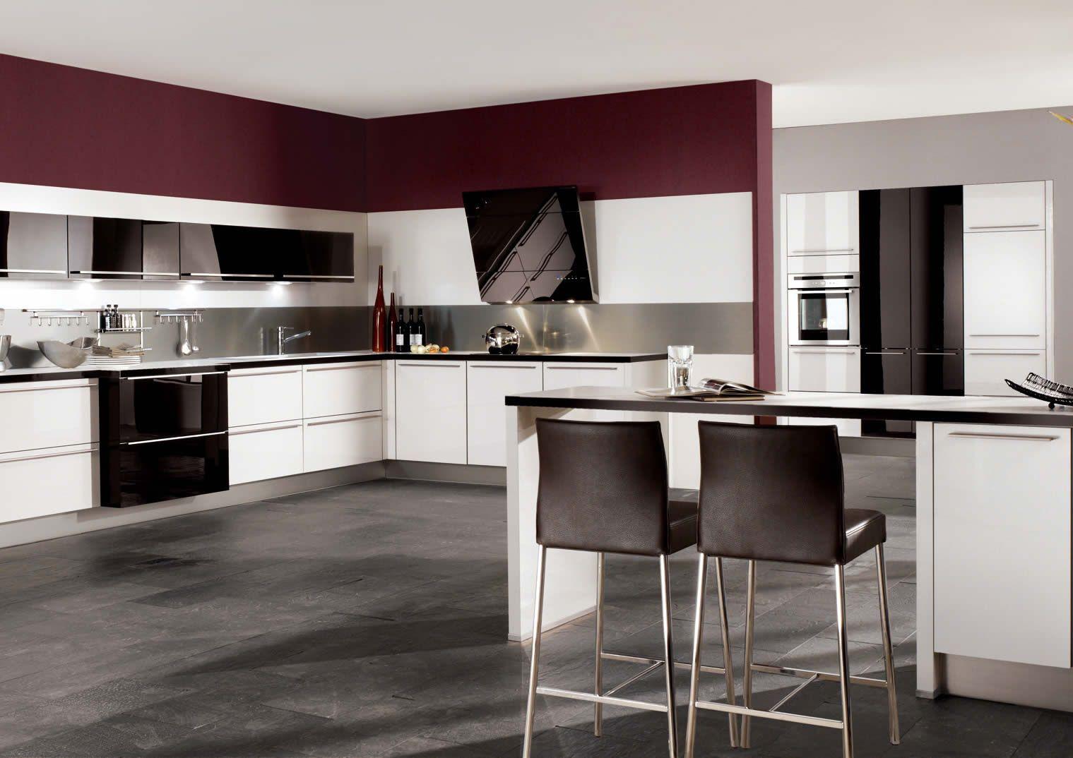 awesome german kitchen designs - Maroon Kitchen Decoration