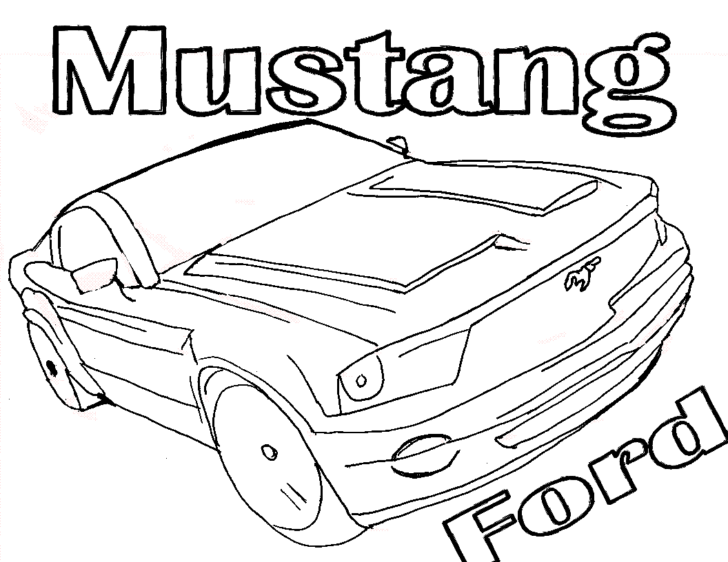 Mustang Ford Coloring Pages For Kids Xa Printable Cars Coloring Pages For Kids Race Car Coloring Pages Cars Coloring Pages Coloring Pages For Boys