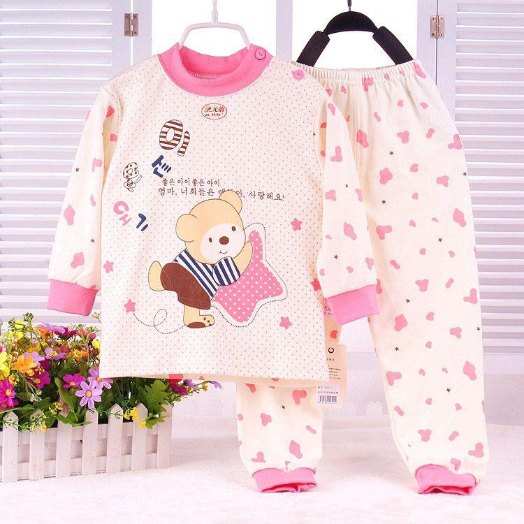 New Bear Newborn Sets Cotton Cartoon Penguin Baby Clothing Suit Cat and Dog  Baby pajamas Boys 0ea4f9ba8dfd