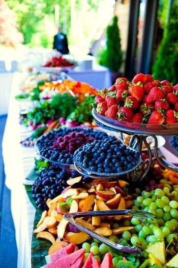 Wedding Fruit Buffet Dessert Table Or Food Station Idea