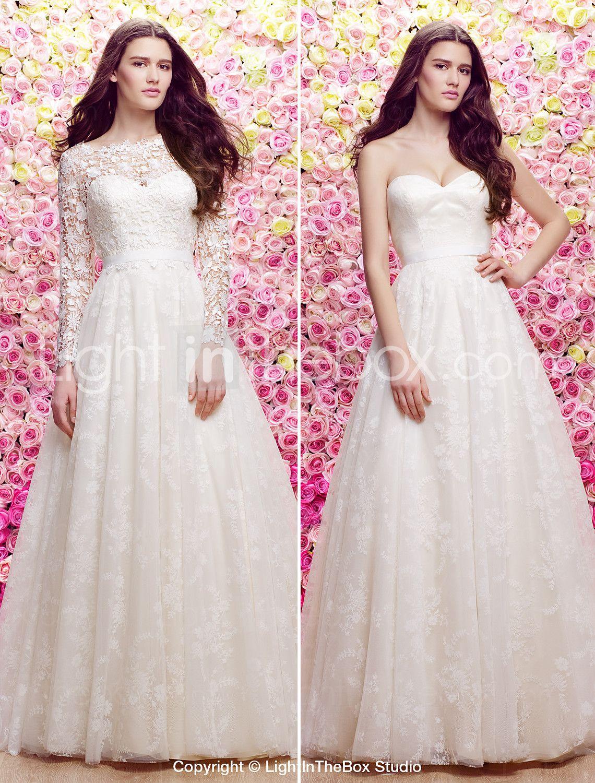 Lanting novia Lanting una línea de vestido / de la princesa de la ...