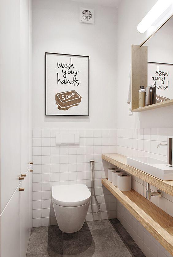 25 idee per arredare sfruttando ogni minimo spazio i piccoli bagni bagno ba os ba os - Spazio minimo per un bagno ...