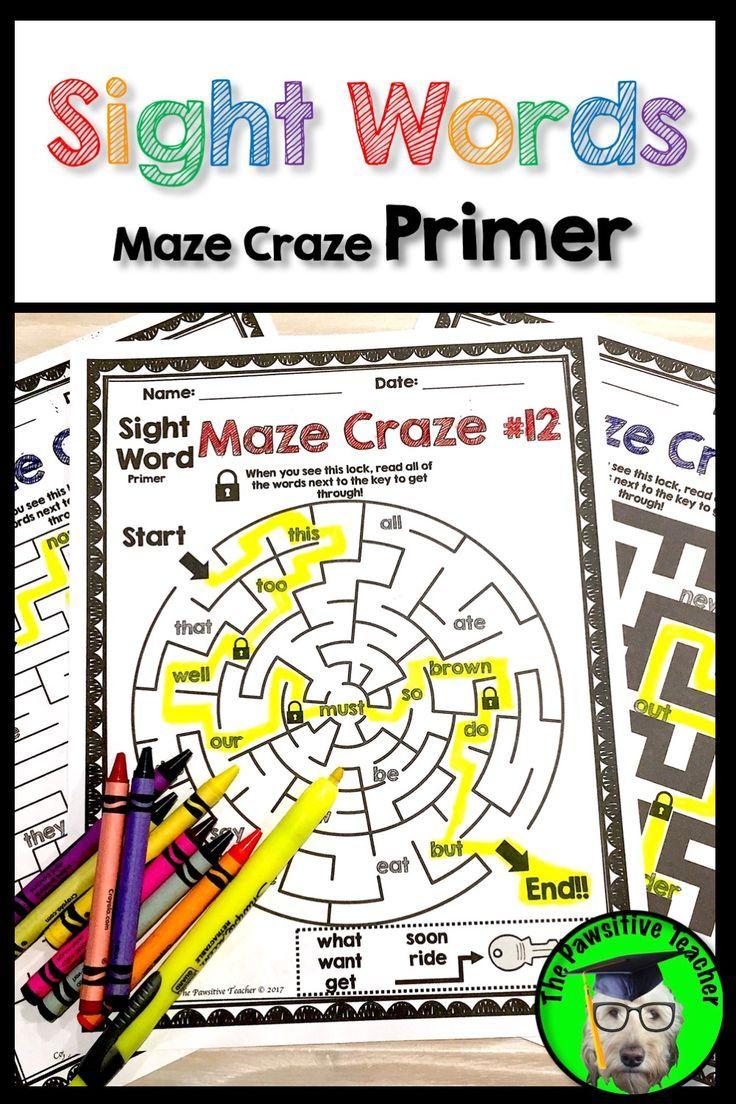 Sight Words Practice Primer | TPT K-2 Literacy | Pinterest | Morning ...