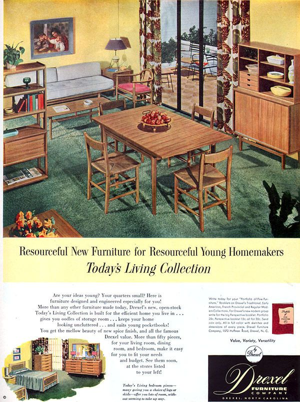 Todayu0027s Living Collection Drexel Furniture Milo Baughman Dining Room,1952 Part 49