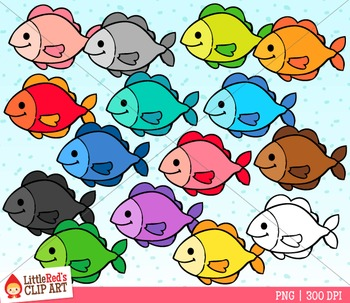 A Collection Of Colorful Fish Clip Art 15 Graphics 14 In Color 1 In Black And White 300 Dpi Files Nice Crisp Prin Fish Clipart Clip Art Rainbow Fish