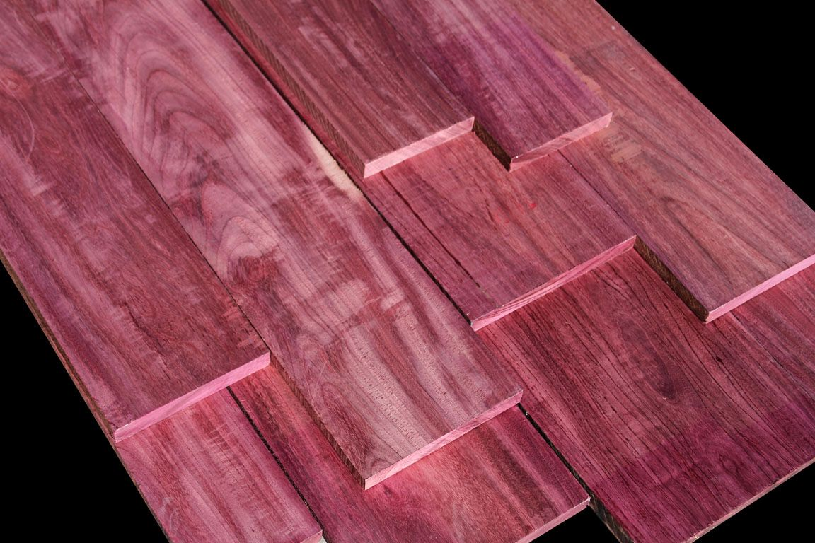 Exotic wood purpleheart purpleheart or amarynth is a for Purple heart flooring