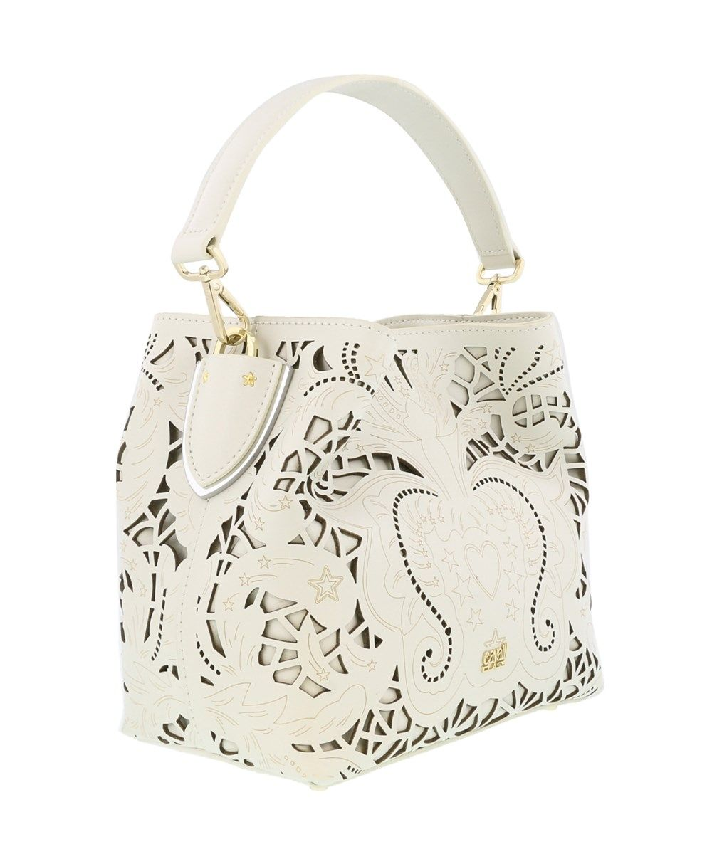e2a036ac531 ROBERTO CAVALLI Stardust 002 Off White Satchel Bag'. #robertocavalli #bags  #shoulder bags #hand bags #pvc #leather #satchel #