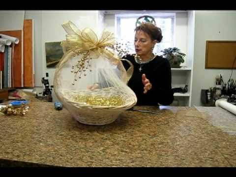 Nashville wraps presents wrapping a basket with tulle video nashville wraps presents wrapping a basket with tulle negle Images