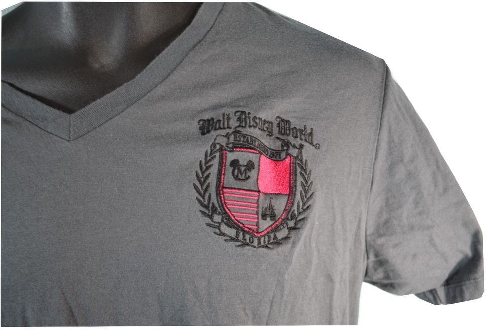 #WaltDisneyWorld #embroidered #crest #Cast #Exclusive V neck Shirt L #Florida for sale in my ebay store