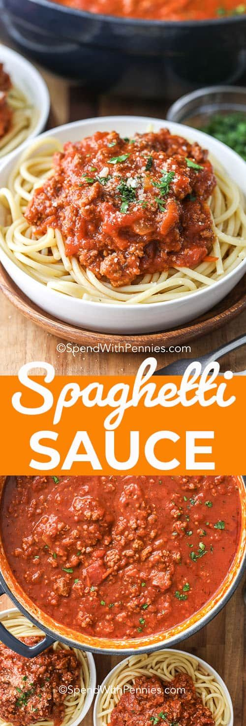 This Is The Best Spaghetti Sauce Recipe Perfect For Canning And For Freezing This Recipe Is Filled With Ground Beef Ital Homemade Spaghetti Sauce Ground Beef Spaghetti Sauce Ground Italian Sausage