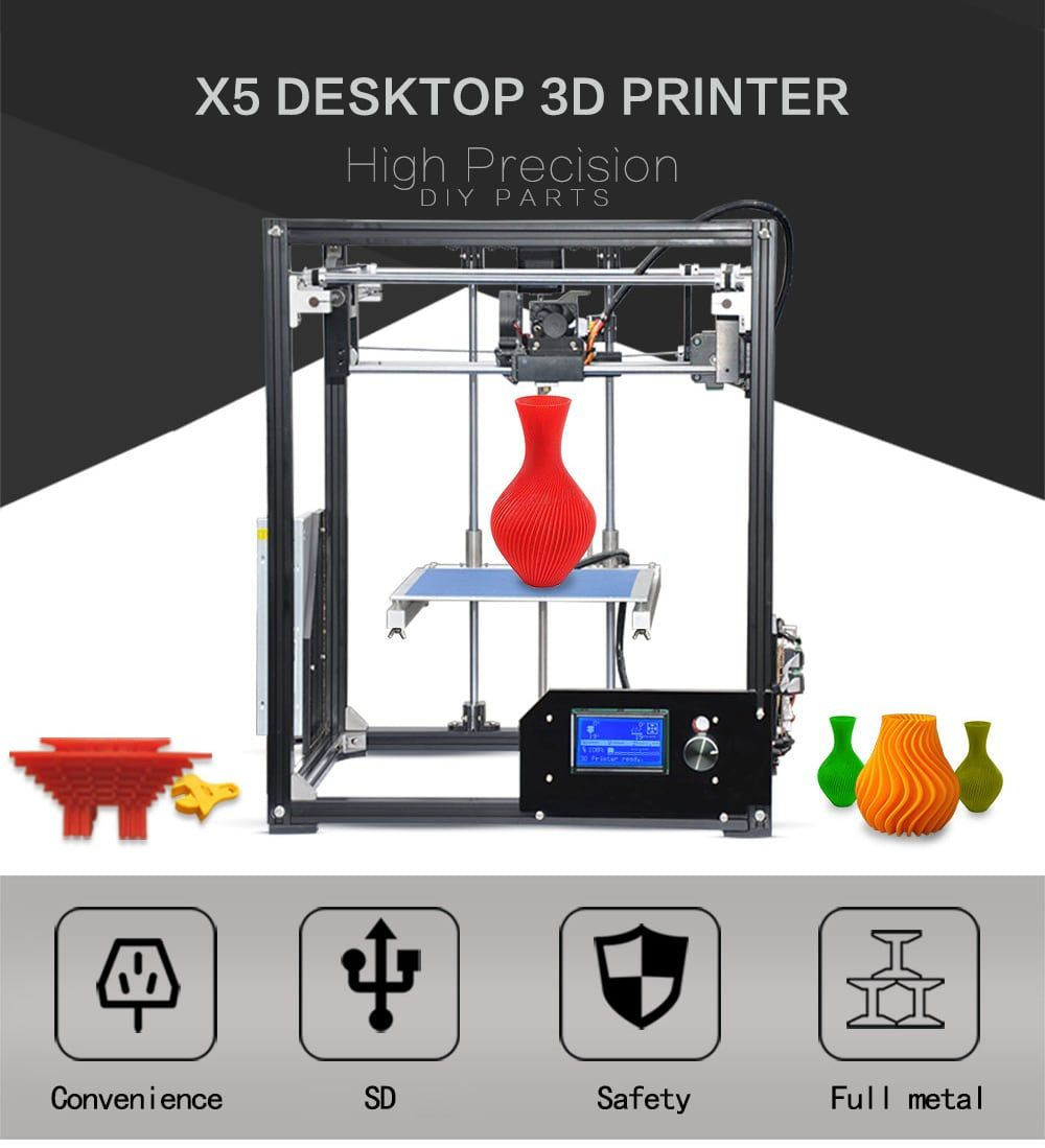 Tronxy X5 Aluminum Profile 210 x 210 x 280mm 3D Printer in 2019
