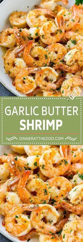 Garlic Butter Shrimp - Dinner at the Zoo