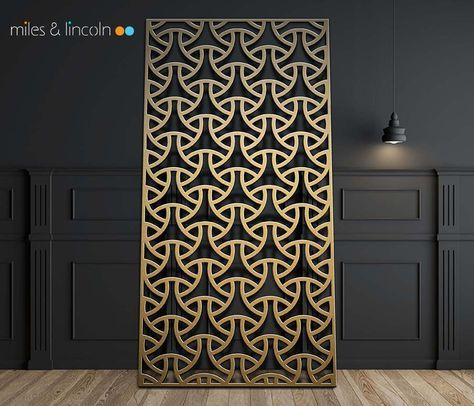 Laser Cut Screen Tri Weave Design Www Milesandlincoln Com