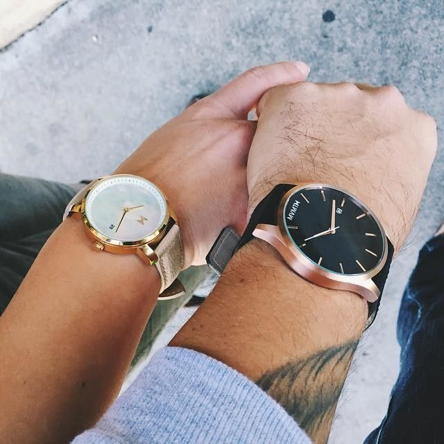 Rose Gold/Black Leather   Enter code 'malloryg' to save $10 on any watch! #JointheMVMT