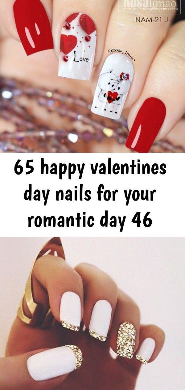 Valentine's Day nails; red nail art designs; pink nails; heart nails; acrylic na...  #acrylic #Art #Day #Designs #Heart #Nail #Nails #PINK #Red #Valentines