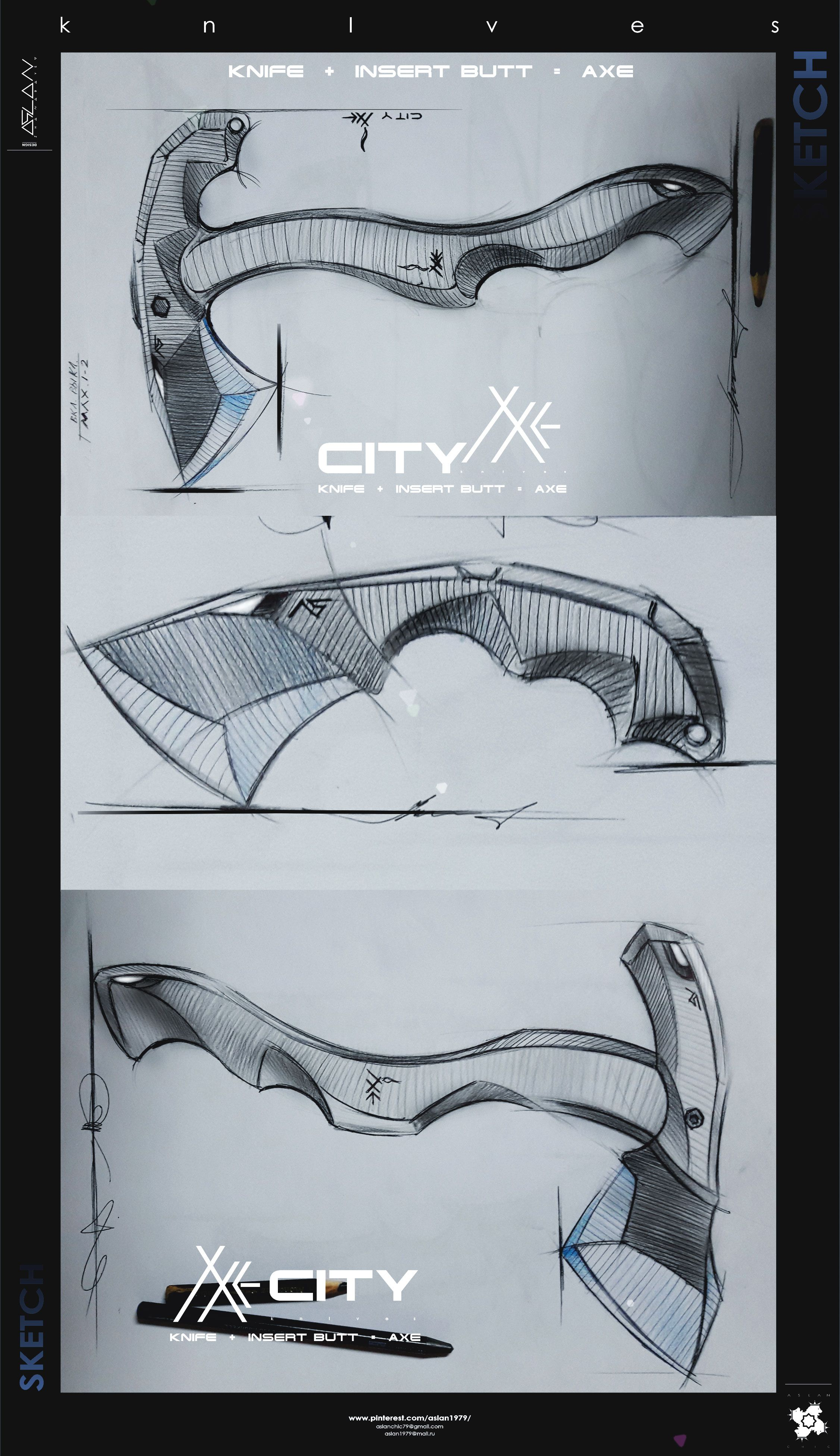 Knives Axe My Sketches Of Knives Axes And Multitools