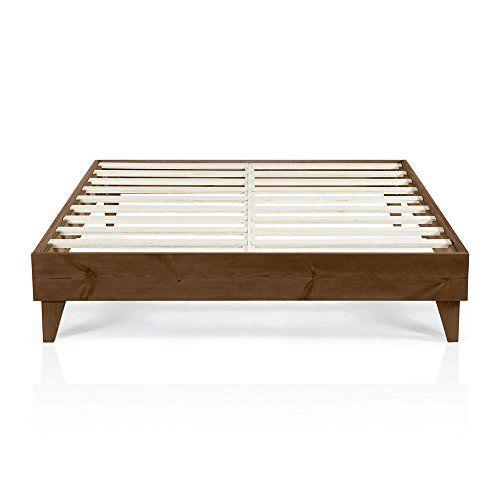 Modern California King Size Platform Bed Frame Solid Wood Design ...