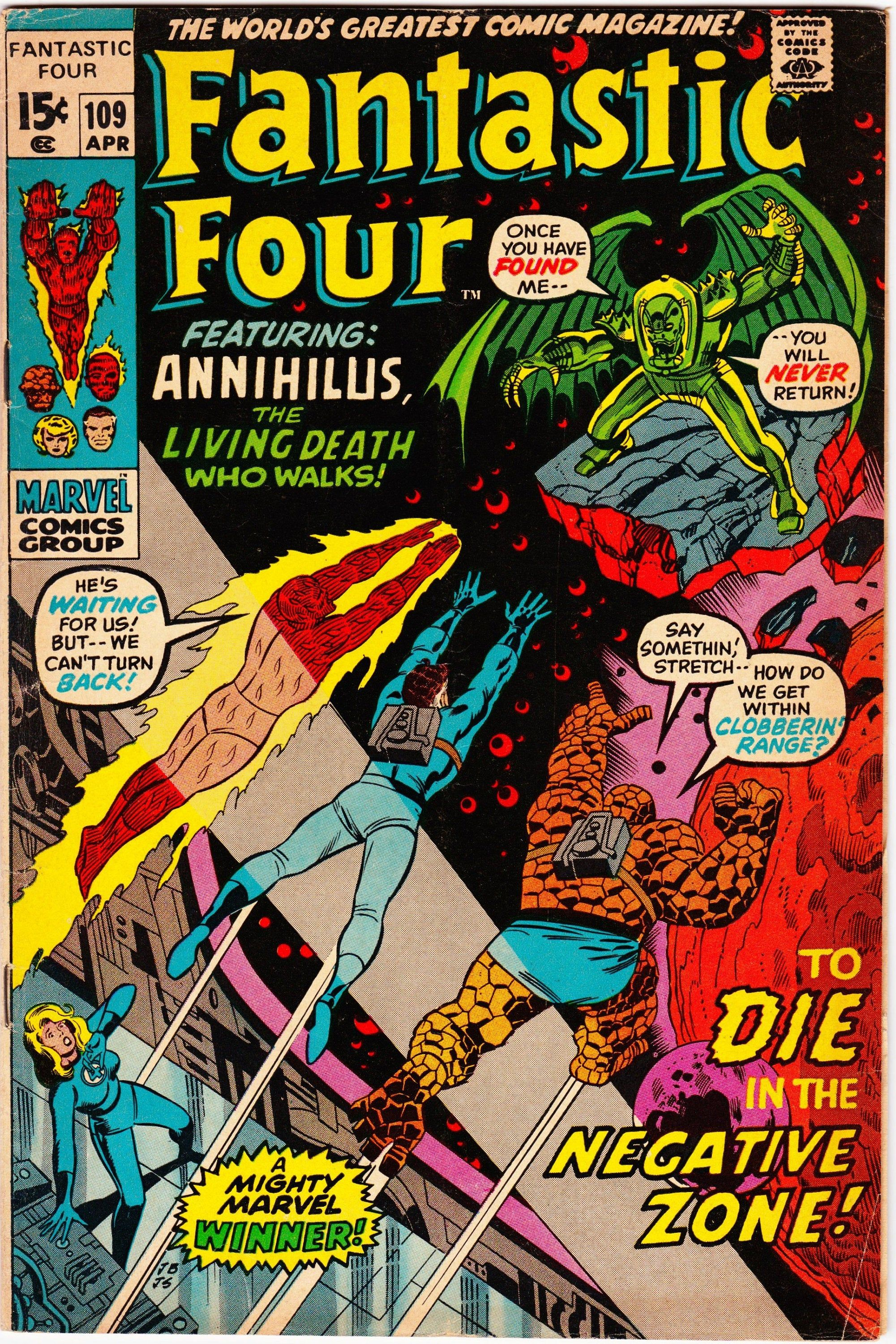 Fantastic Four #109 (1st Series 1961) May 1971 Marvel Comics Grade VG/F #comicbooks