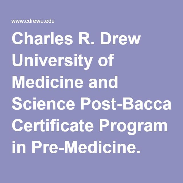 Charles R. Drew University of Medicine and Science Post ...