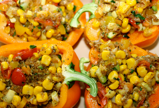 Vegetable Stuffed bell peppers