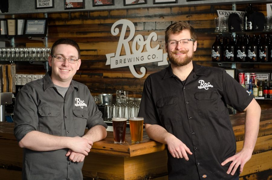 Chris Spinelli and Jon Mervine, owners of Roc Brewing Co., are part of the Sam Adams