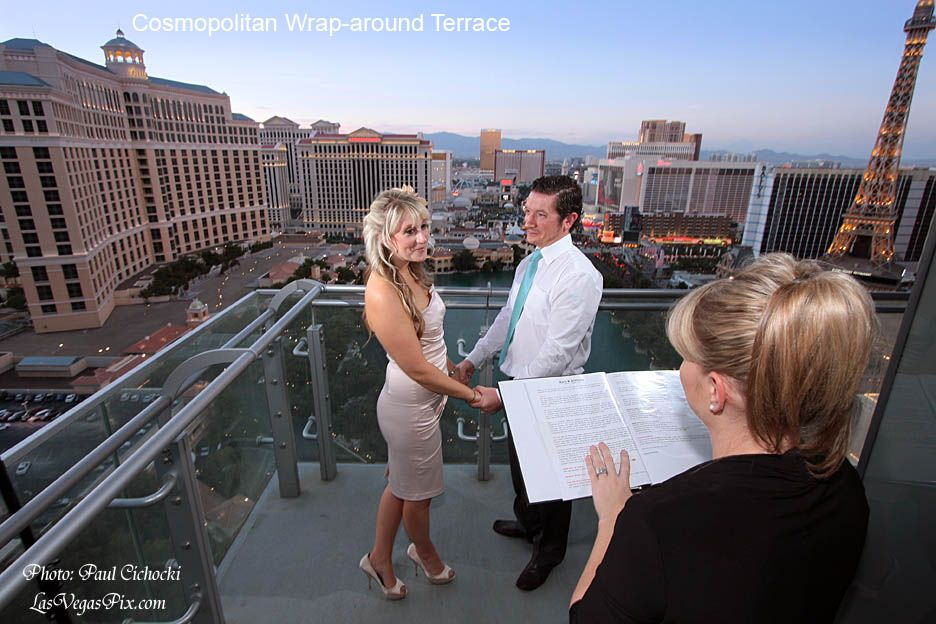 Wedding Ceremony On A Balcony The Cosmopolitan I Helped Client Find Teh Minister