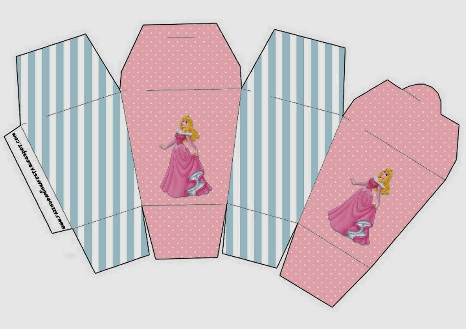 Sleeping Beauty Free Printable Boxes Princesas Pinterest