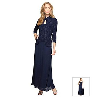 Alex Evenings® Long Jacket Dress at www.herbergers.com | dresses ...
