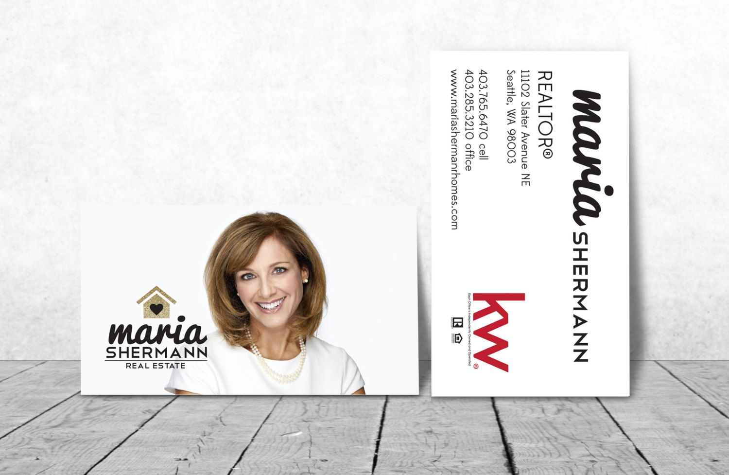 Real estate Business Cards GOLD house simple card Modern Realtor Keller Williams, color both sides FREE UPS shipping- century 21 re-max by Ladyluckpr on Etsy
