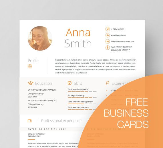 The Orange Is A Creative Resume Template  Page Design With
